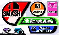 The main menu of Super Smash Bros. for Nintendo 3DS