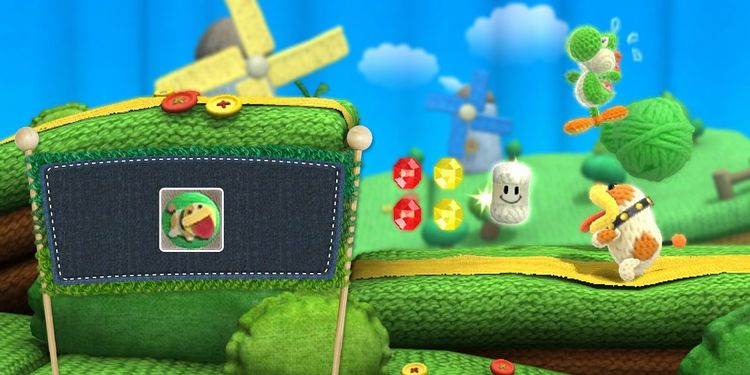 Picture shown with the first question in Yoshi's Woolly World Power Badges Quiz