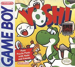 The Game Boy version game cover of Yoshi