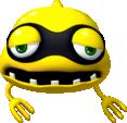 Artwork of a Yellow Virus from Dr. Luigi.