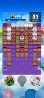 Stage 197 from Dr. Mario World since version 2.0.0