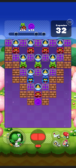 Stage 552 from Dr. Mario World