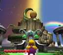 Wario facing the exterior of Excitement Central