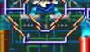 Mario in the level Geometropolis 1.