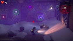 The Jewel Chamber of the Tomb Suites in Luigi's Mansion 3.