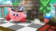 Kirby with Dr. Mario's ability
