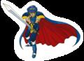 A Sticker of Marth from Super Smash Bros. Brawl.