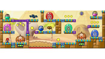 Miiverse screenshot of the 15th official level in the online community of Mario vs. Donkey Kong: Tipping Stars