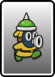 A Yellow Spike Snifit card from Paper Mario: Color Splash