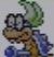 Iggy Koopa icon in Super Mario Maker 2 (Super Mario World style)