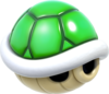 Artwork of a Green Shell, from Super Mario 3D World.