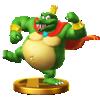 King K. Rool trophy from Super Smash Bros. for Wii U