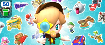 The Baby Rosalina Pipe 1 from the Baby Rosalina Tour in Mario Kart Tour