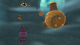 """A screenshot of Spin-Dig Galaxy during the """"Digga-Leg's Planet"""" mission from Super Mario Galaxy 2."""