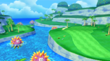 Hole 7 of Sparkling Waters in Mario Golf: World Tour
