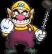 Mario Golf (N64) artwork: Wario
