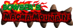 The title for Bowser's Magma Mountain.