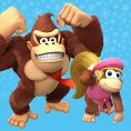 Option in a Play Nintendo opinion poll on which pair of Kongs to play as in the Nintendo Switch version of Donkey Kong Country: Tropical Freeze. Original filename: <tt>1x1_DKCTFSwitchPoll1_DK_Dixie_v01.6ef5f3152e16d0ba.jpg</tt>