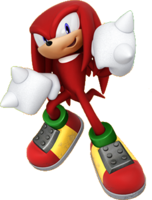 Artwork of Knuckles the Echidna for Mario & Sonic at the Rio 2016 Olympic Games Arcade Edition.