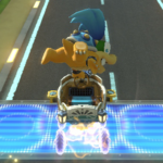 Larry Koopa performs a trick.