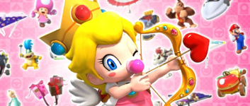 The Valentine's Pipe 1 from the Valentine's Tour in Mario Kart Tour