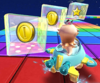The icon of the Koopa Troopa Cup challenge from the London Tour and the Baby Rosalina Cup challenge from the Sunset Tour in Mario Kart Tour