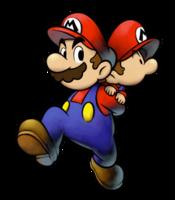 Mario carrying Baby Mario