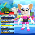 A Rouge the Bat costume for Miis in the Wii version of Mario & Sonic at the London 2012 Olympic Games.