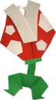 An origami Ptooie from Paper Mario: The Origami King.