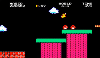Screenshot of World 3-3 from Super Mario Bros. Special.
