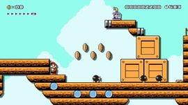 Airship level in Super Mario Maker