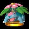 Trophy of Mega Venusaur in Super Smash Bros. for Nintendo 3DS.