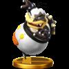 Morton's trophy render from Super Smash Bros. for Wii U
