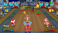 A 3-on-3 Dodgeball match on the Star Ship.