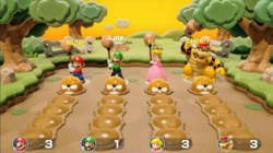 Rhythm and Bruise minigame from Super Mario Party