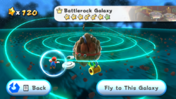 Battlerock Galaxy in the game Super Mario Galaxy.