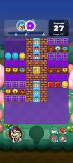 Stage 1067 from Dr. Mario World