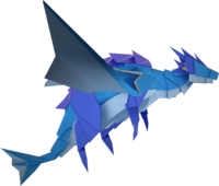 An origami Water Vellumental from Paper Mario: The Origami King.