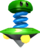 Rendered model of the Topman (spring) enemy in Super Mario Galaxy.