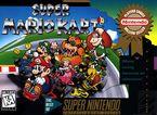 The NA Player's Choice box artwork of Super Mario Kart