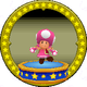 A figure with Toadette on it.