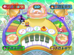 Wario in Catchy Tunes from Mario Party 7