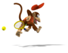 Artwork of Diddy Kong from Mario Power Tennis.