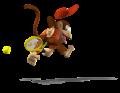 Diddy Kong Artwork - Mario Power Tennis.png