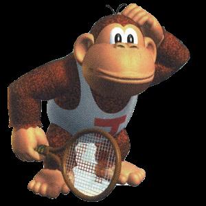 Artwork of Donkey Kong Jr. from Mario Tennis