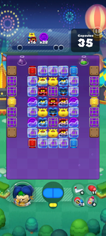 Stage 647 from Dr. Mario World