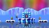 Mario in the level Iceberg 1.