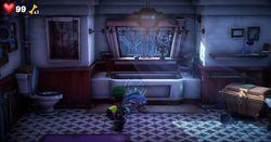 The Illusion Bathroom in Luigi's Mansion 3