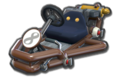 Thumbnail of a brown Pipe Frame (with 8 icon), in Mario Kart 8.