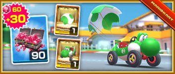 The Eggshell Glider Pack from the 2020 Yoshi Tour in Mario Kart Tour